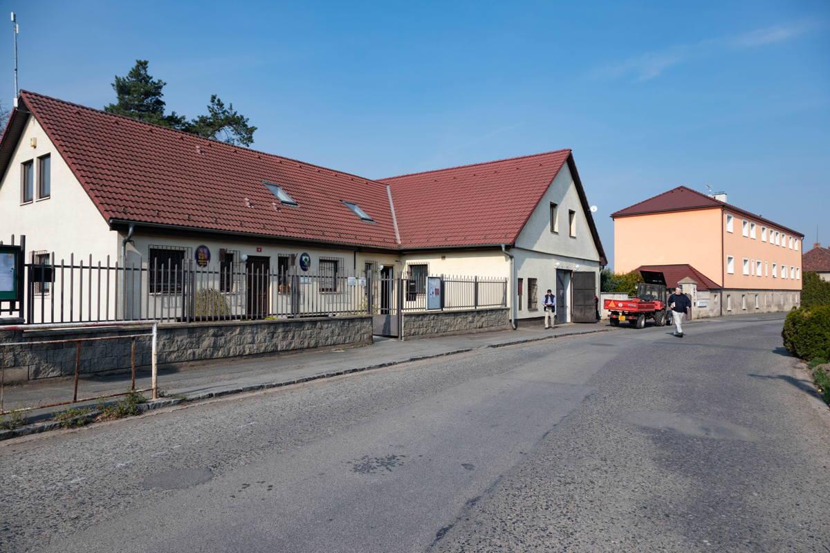 rabbi's house, prayer room, and synagogue now municipal complex