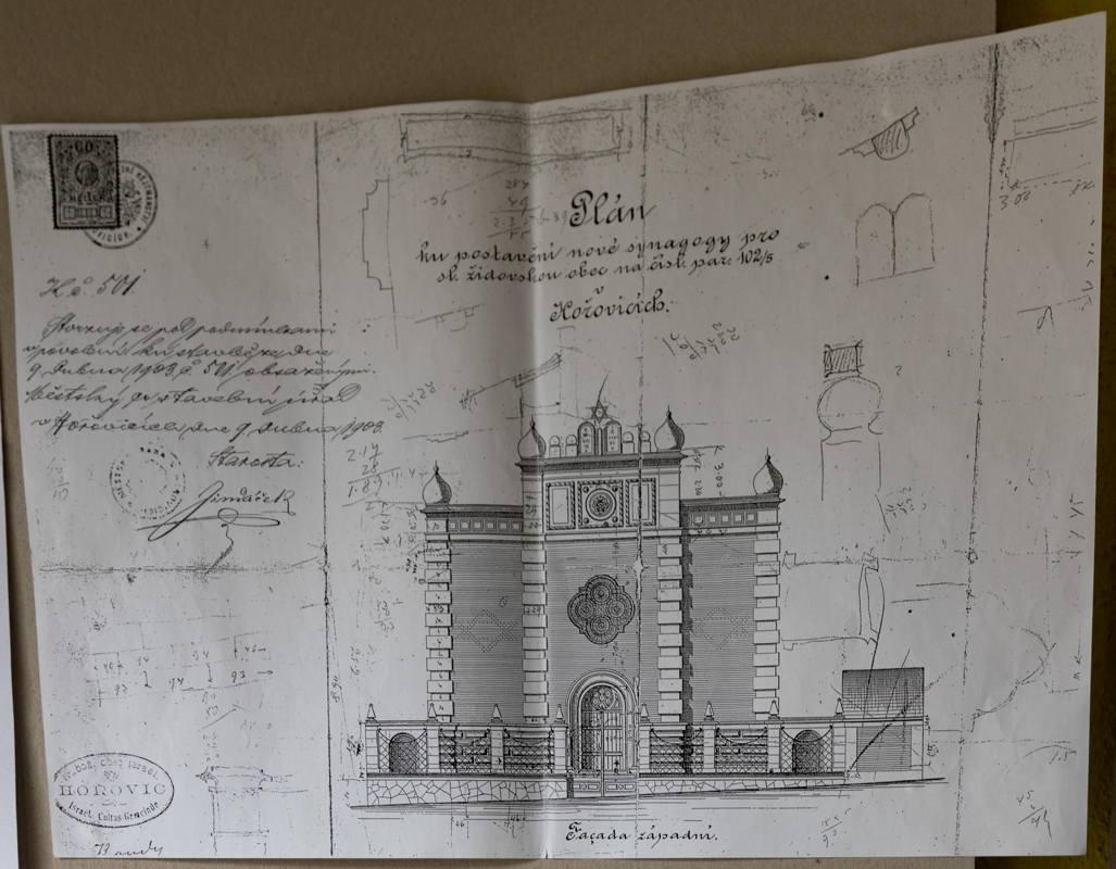 drawing of synagogue