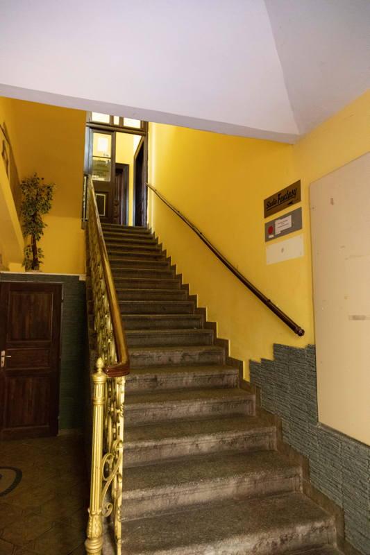 original steps in apartment building