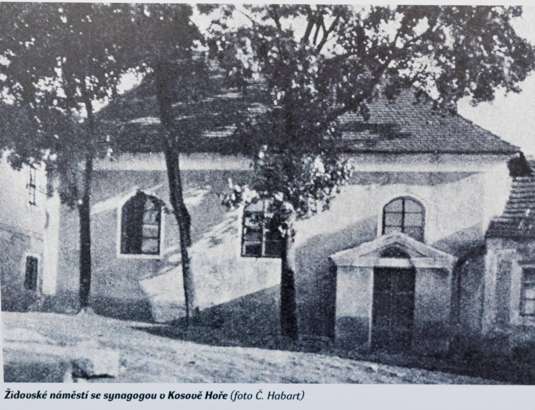 photo on display in synagogue