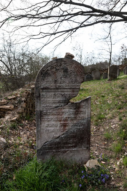 cemetery located a few miles from ghetto on a steep hill